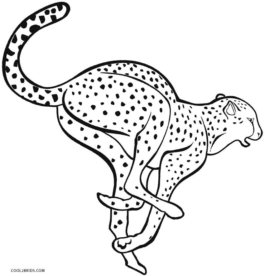 cheetah colouring page printable cheetah coloring pages for kids cool2bkids cheetah colouring page