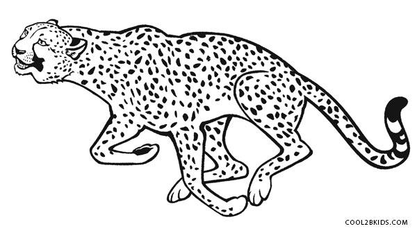 cheetah colouring page printable cheetah coloring pages for kids cool2bkids cheetah colouring page 1 2