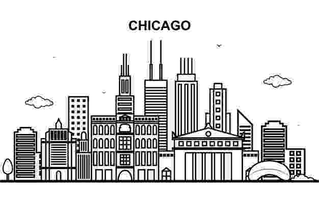 chicago skyline coloring page amazoncom chicago city skyline vinyl decal sticker for chicago skyline page coloring