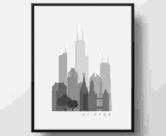 chicago skyline coloring page cartoon chicago skyline cartoon skyline silhouette chicago page coloring skyline