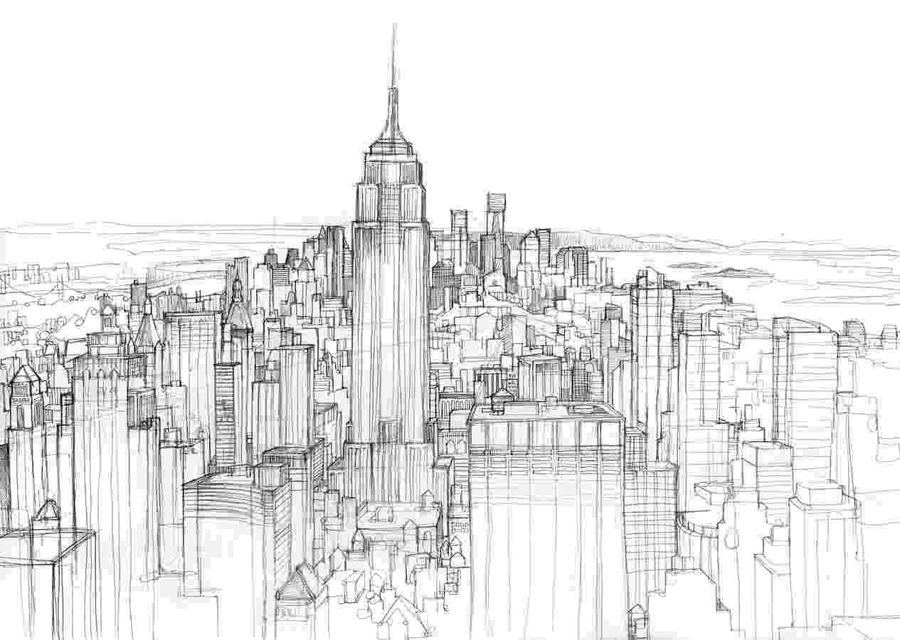 chicago skyline coloring page chicago city tour cityscape skyline line outline vector coloring page chicago skyline