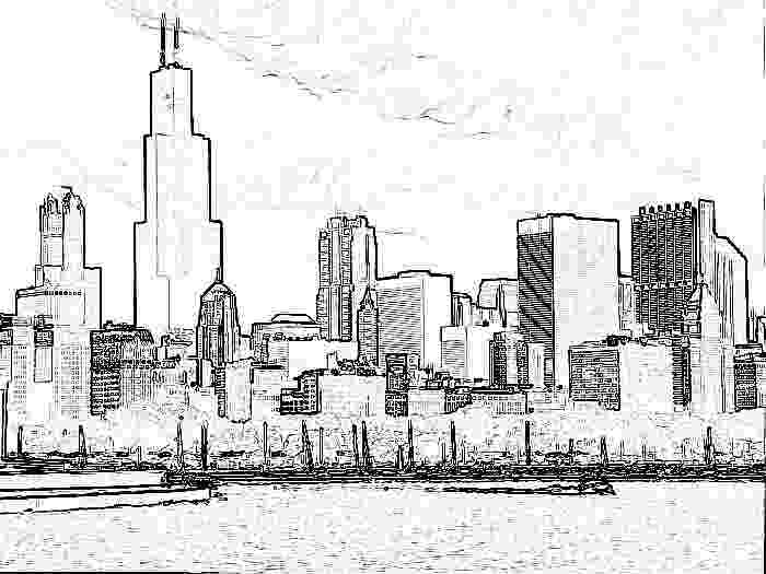 chicago skyline coloring page chicago skyline manga style by astrofan1993 on deviantart coloring skyline chicago page