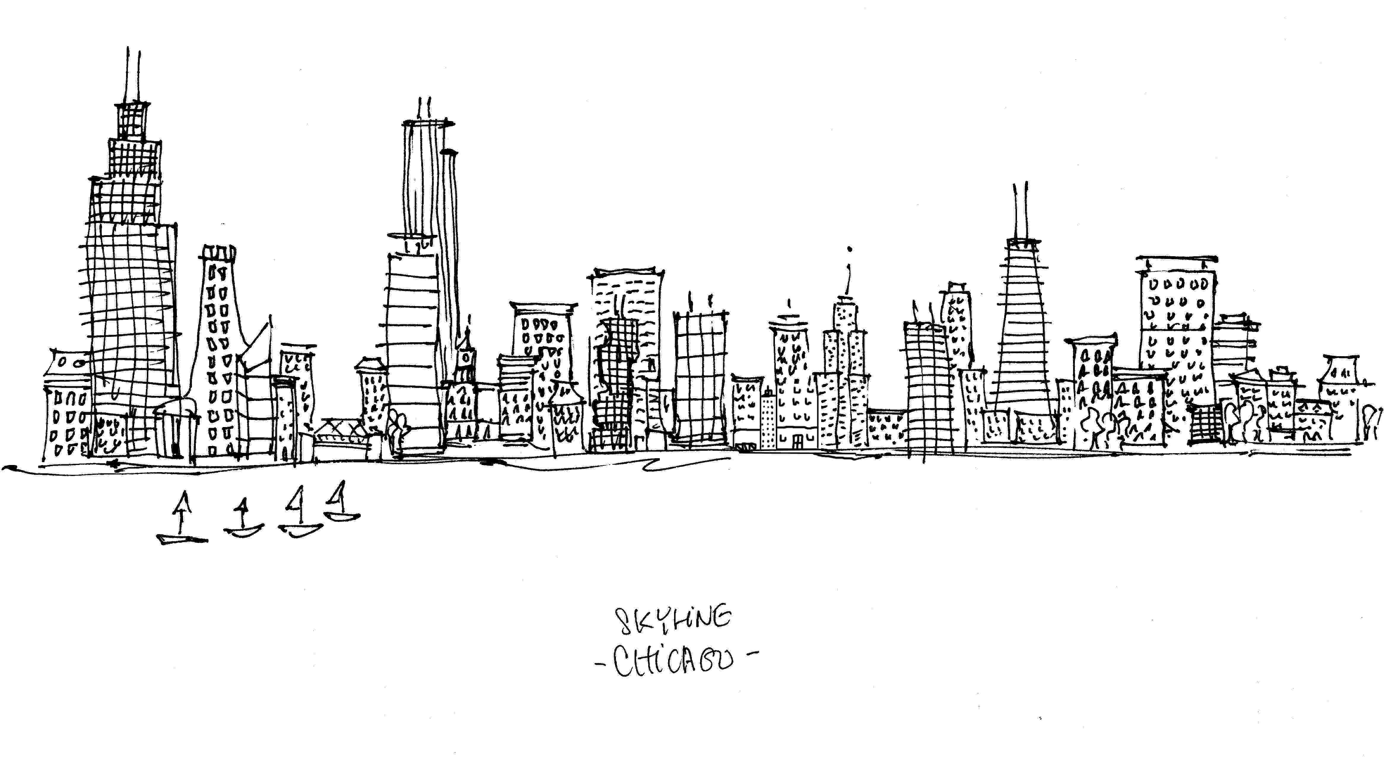 chicago skyline coloring page new york skyline coloring page cartoon vector outline skyline chicago coloring page