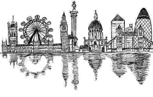chicago skyline coloring page phoenix skyline silhouette free vector silhouettes page skyline coloring chicago