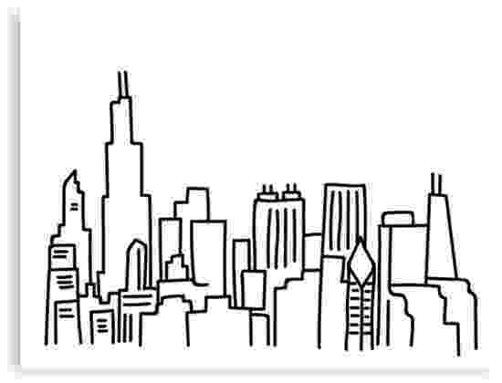 chicago skyline coloring page quotchicago skyline outlinequot canvas prints by emmybdesigns skyline coloring page chicago