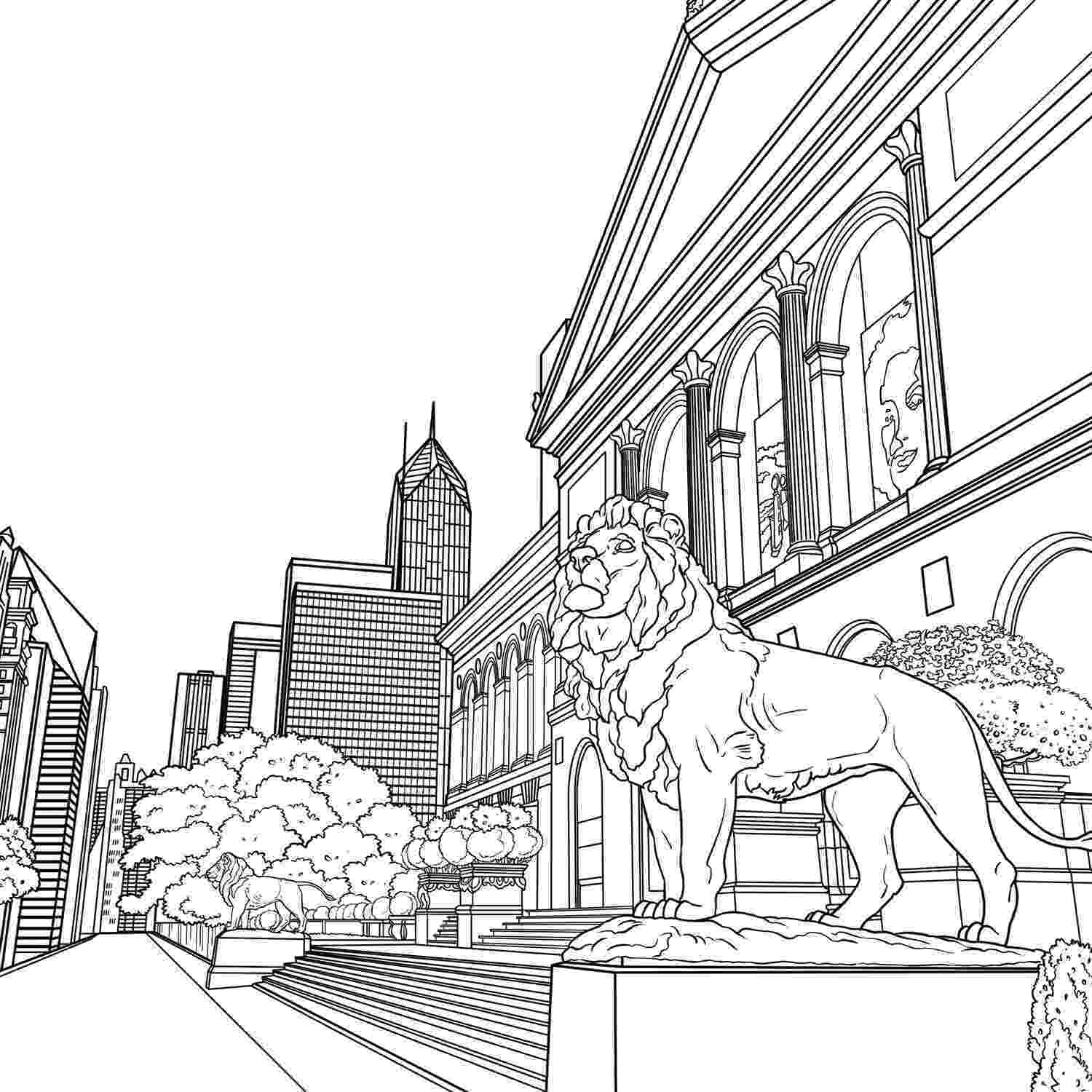 chicago skyline coloring page skyline coloring pages at getcoloringscom free page skyline chicago coloring