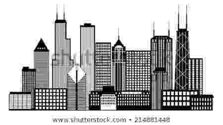 chicago skyline coloring page skyscraper silhouette at getdrawingscom free for skyline chicago coloring page