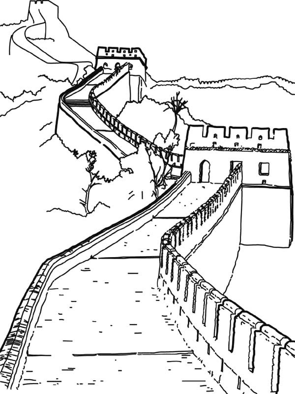 china coloring page worldwonders great wall china coloring pages batch coloring page china