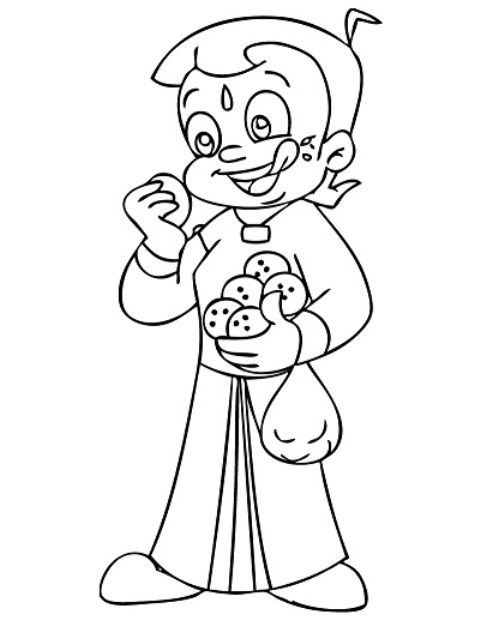 chotta bheem pictures cartoon coloring pages momjunction bheem pictures chotta
