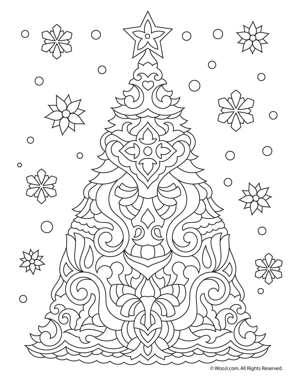 christmas coloring pages for adults free octopus christmas coloring page adult color holidays beach free pages adults christmas for coloring