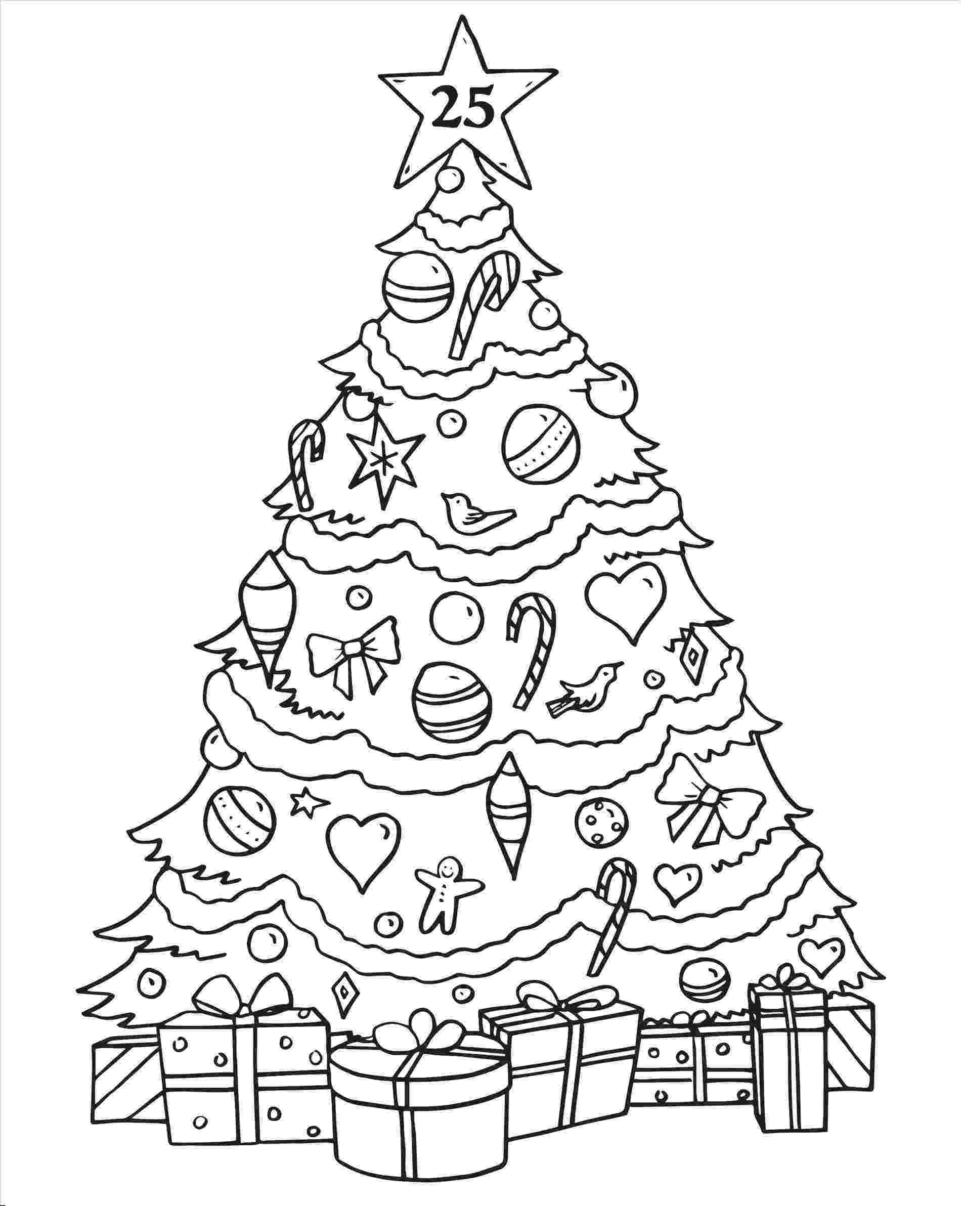 christmas tree coloring pages christmas tree drawing for kids at getdrawingscom free coloring christmas pages tree