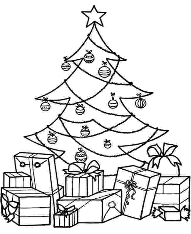 christmas tree coloring pages christmas tree with presents coloring page free coloring pages christmas tree