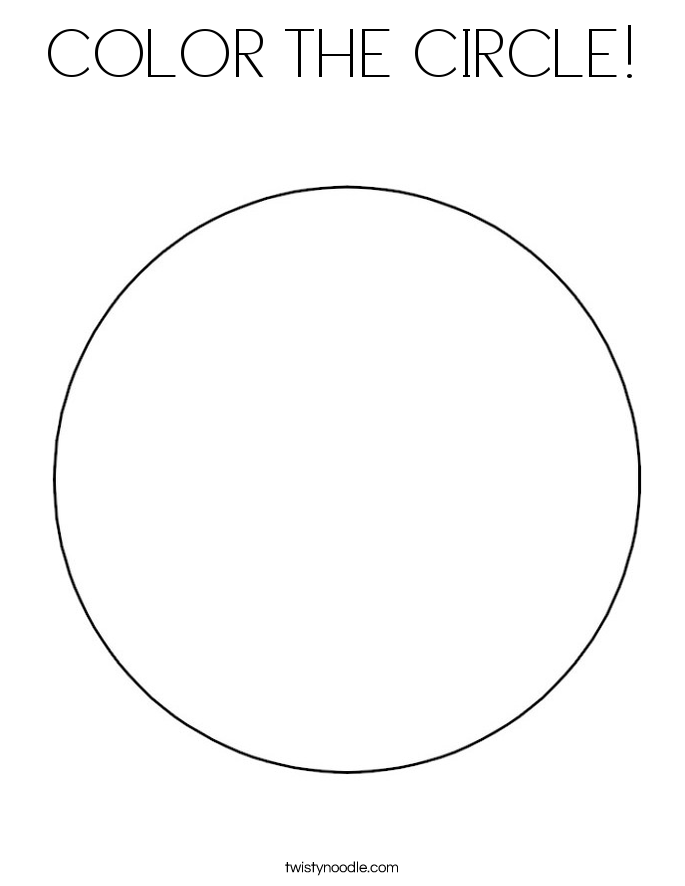 circle coloring page color the circle coloring page twisty noodle circle page coloring