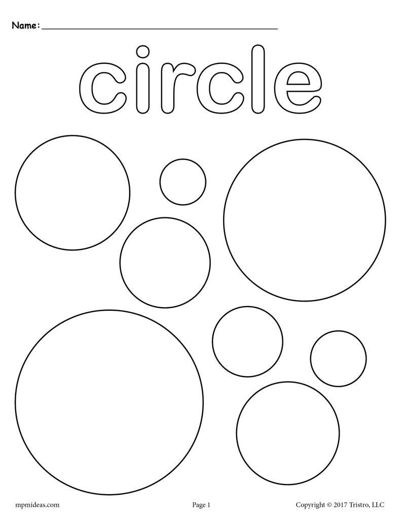 circle coloring page simple activities shapes coloring page circle