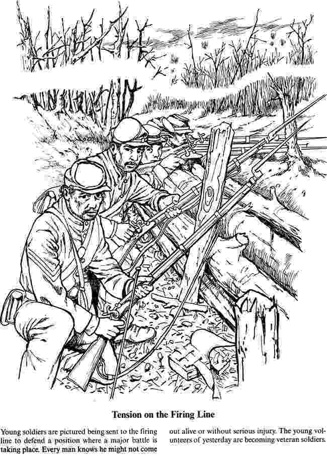 civil war coloring pages a soldier39s life in the civil war coloring page 4 of 5 pages civil war coloring