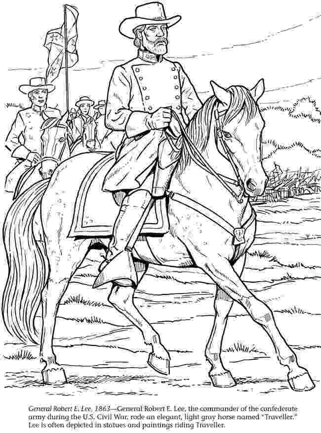 civil war coloring pages general robert e lee 1863 printable homeschool history civil pages war coloring