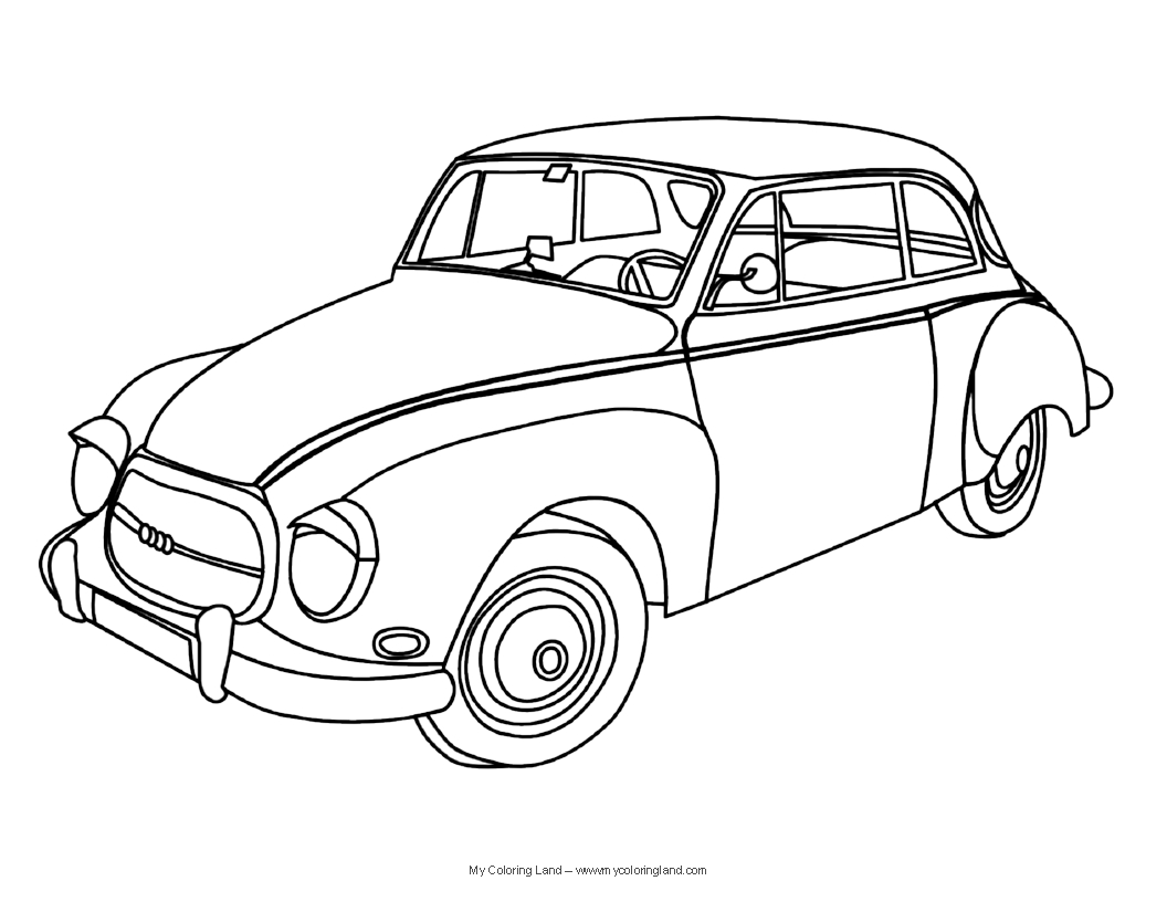 classic car coloring pages back side vintage antique car coloring page coloring classic car pages