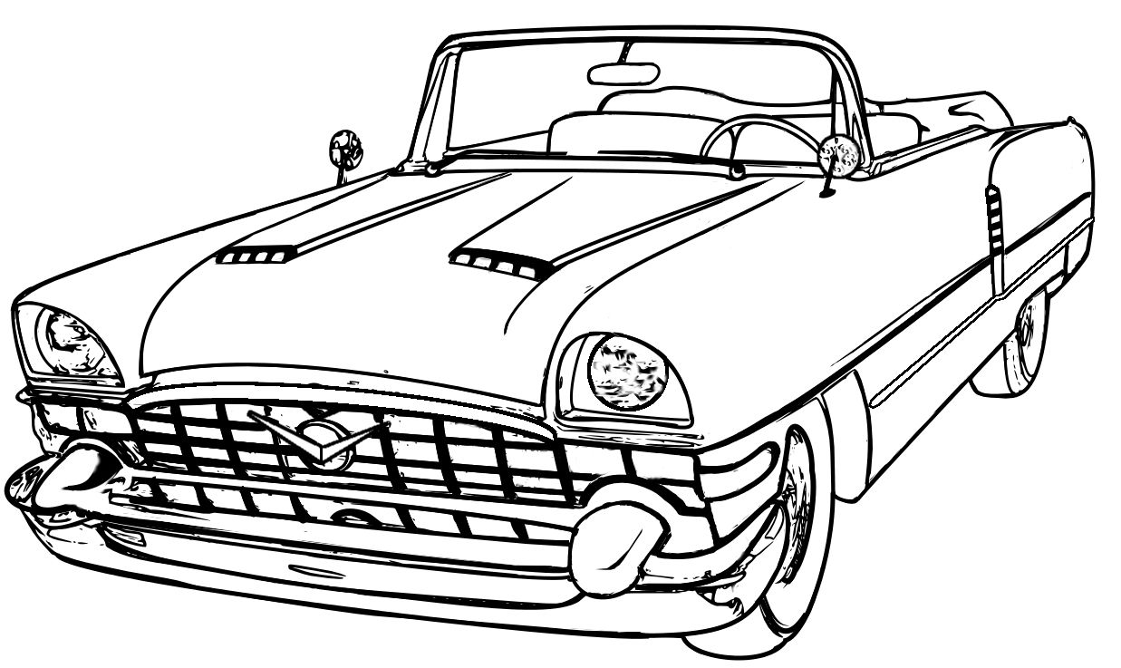 classic car coloring pages classic car netart car pages coloring classic