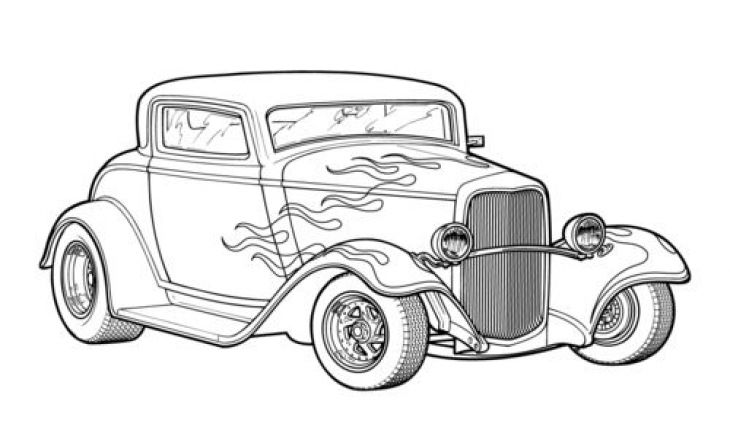 classic car coloring pages classic hot rod car coloring page printable race car classic car pages coloring