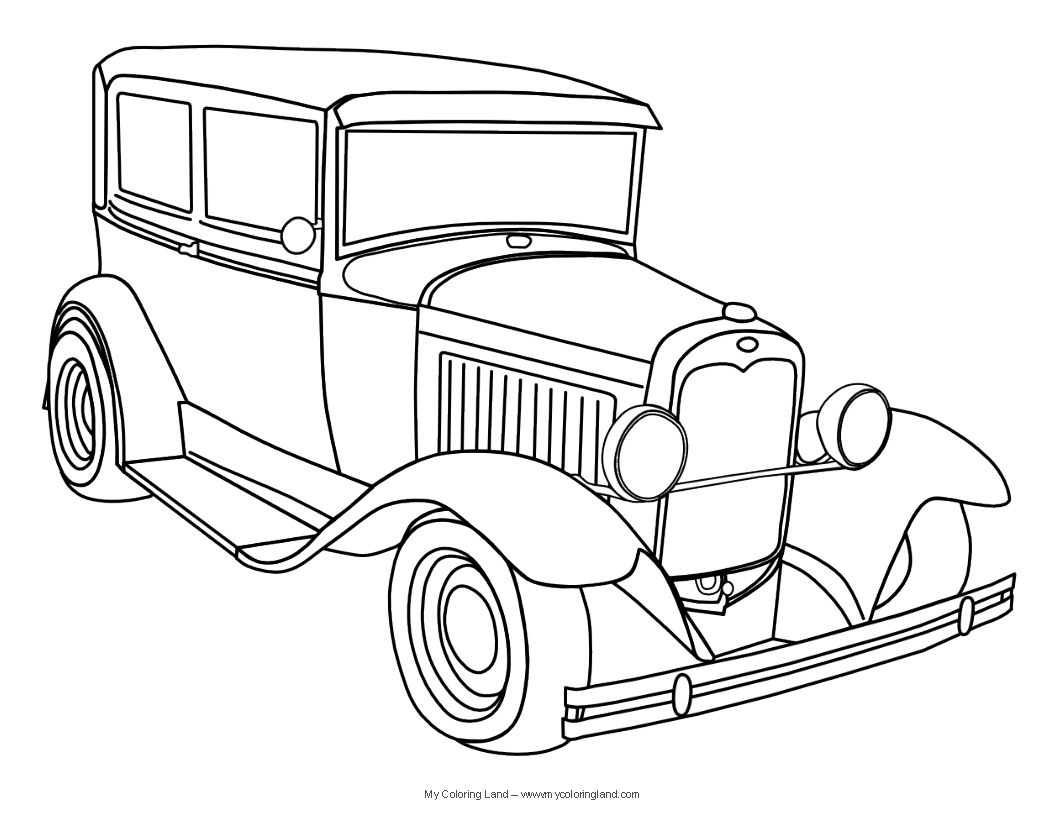 classic car coloring pages vintage car coloring page free printable coloring pages classic pages car coloring