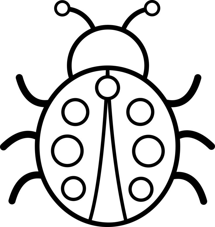 clip art coloring pages black and white pictures cute colorable ladybug free clip coloring pages art