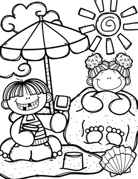 clip art coloring pages summer coloring pages free made by creative clips pages art coloring clip