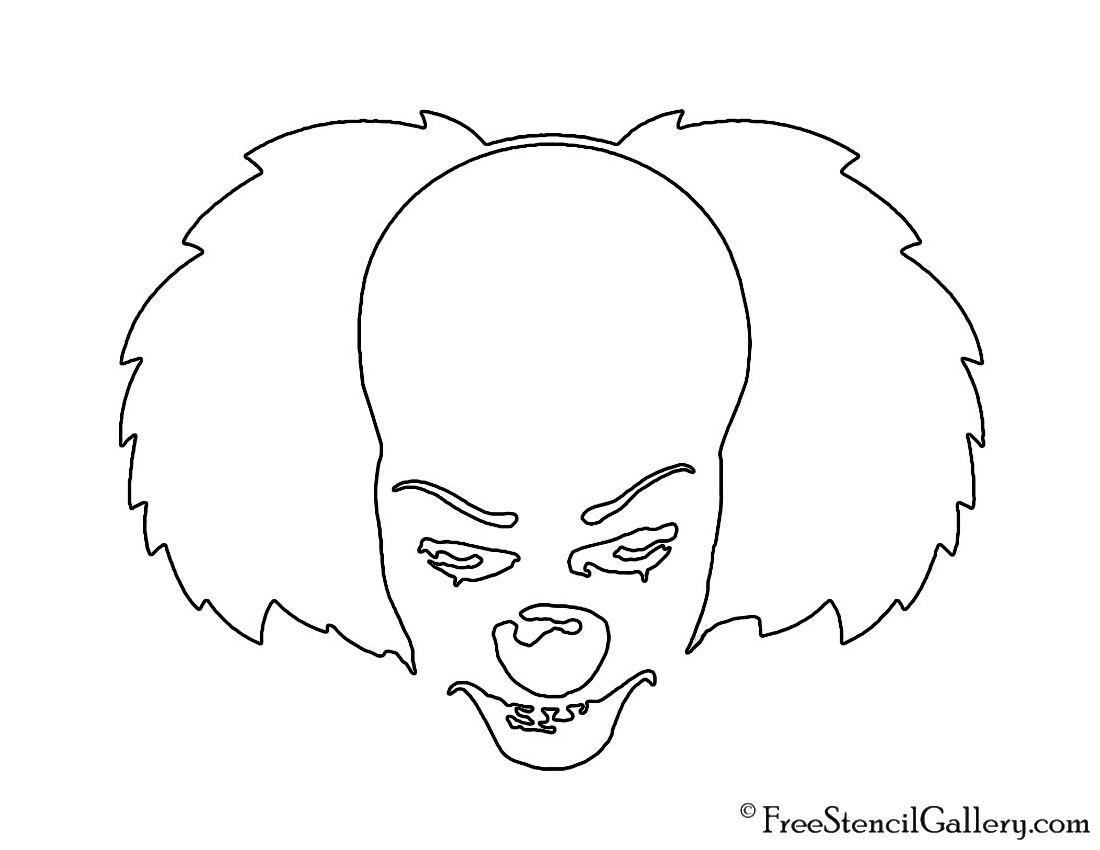 clown stencil printable decider pumpkin carving twisty the clown in 2019 stencil printable clown