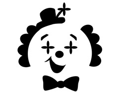 clown stencil printable pin by muse printables on printable patterns at stencil printable clown