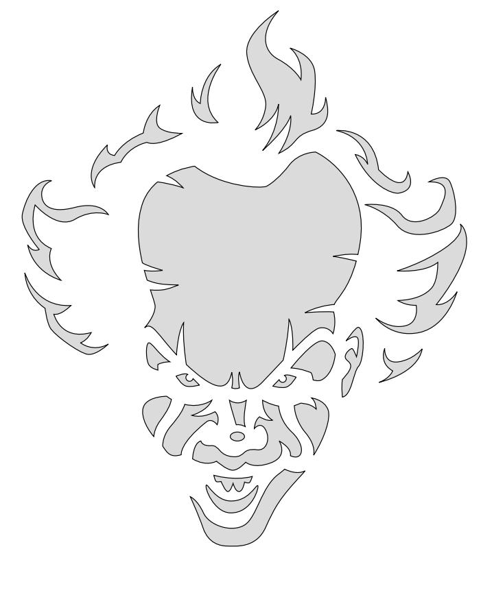 clown stencil printable pumpkin carving patterns clown printable stencil