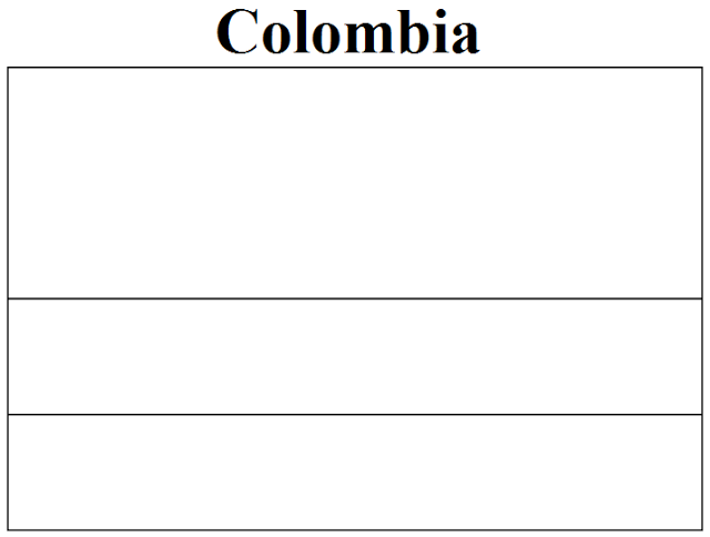 colombia flag coloring page colouring book of flags central and south america coloring colombia page flag