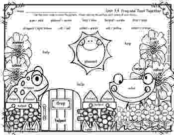 color by number frog reading street free color by word 1st grade frog and toad by frog color number