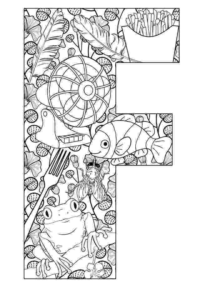 color letter f be creative with abc coloring pages f letter color