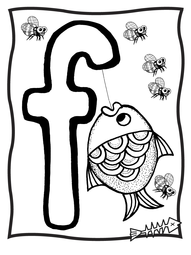 color letter f letter f is for fish coloring page free printable f color letter