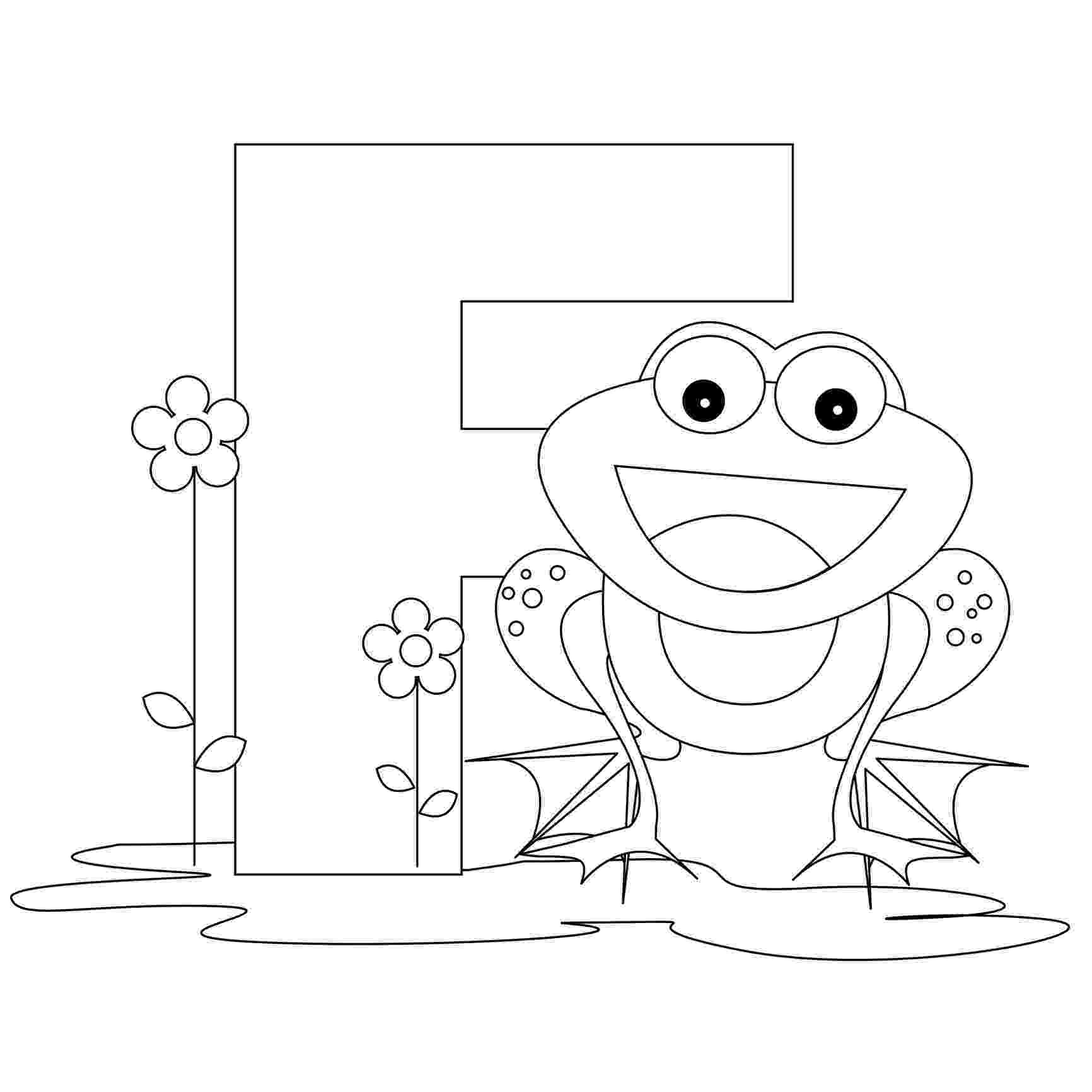 color letter f letter f is for flower coloring page free printable letter f color