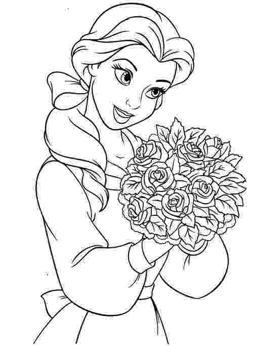 color pages disney disney princess belle coloring pages to kids disney color pages
