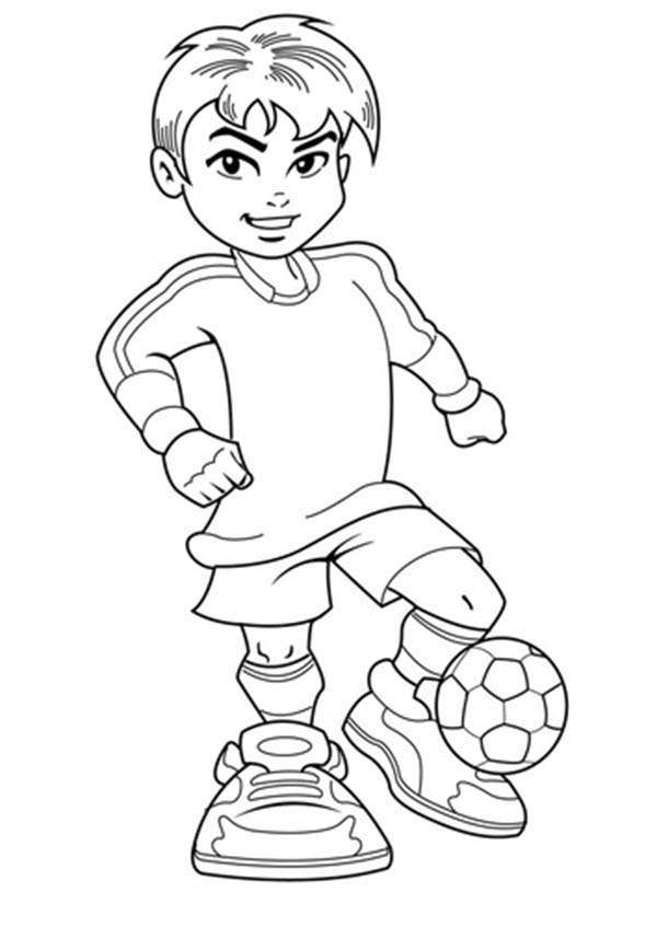 color pages for boys a cute boy on complete soccer jersey coloring page color pages for boys