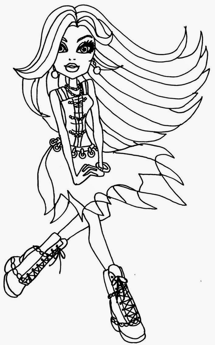 color pages monster high coloring pages monster high coloring pages free and printable color high pages monster