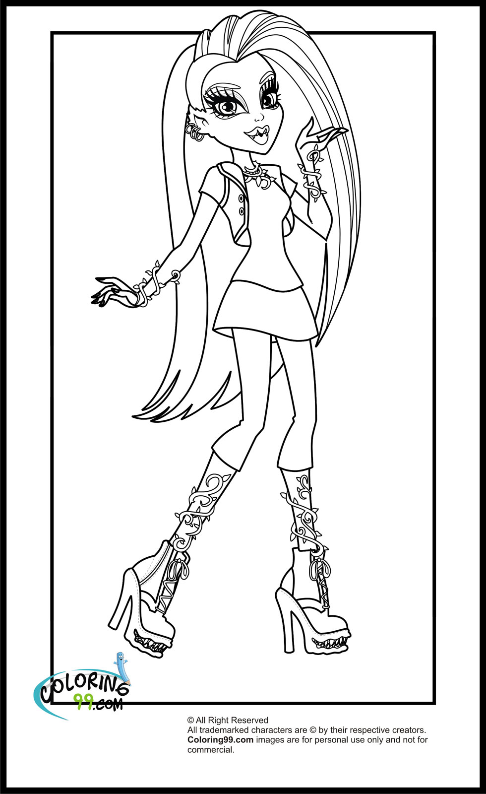 color pages monster high monster high coloring pages pages monster color high