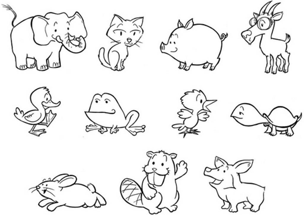 color pages of animals hipopótamo desenhos para colorir color animals pages of