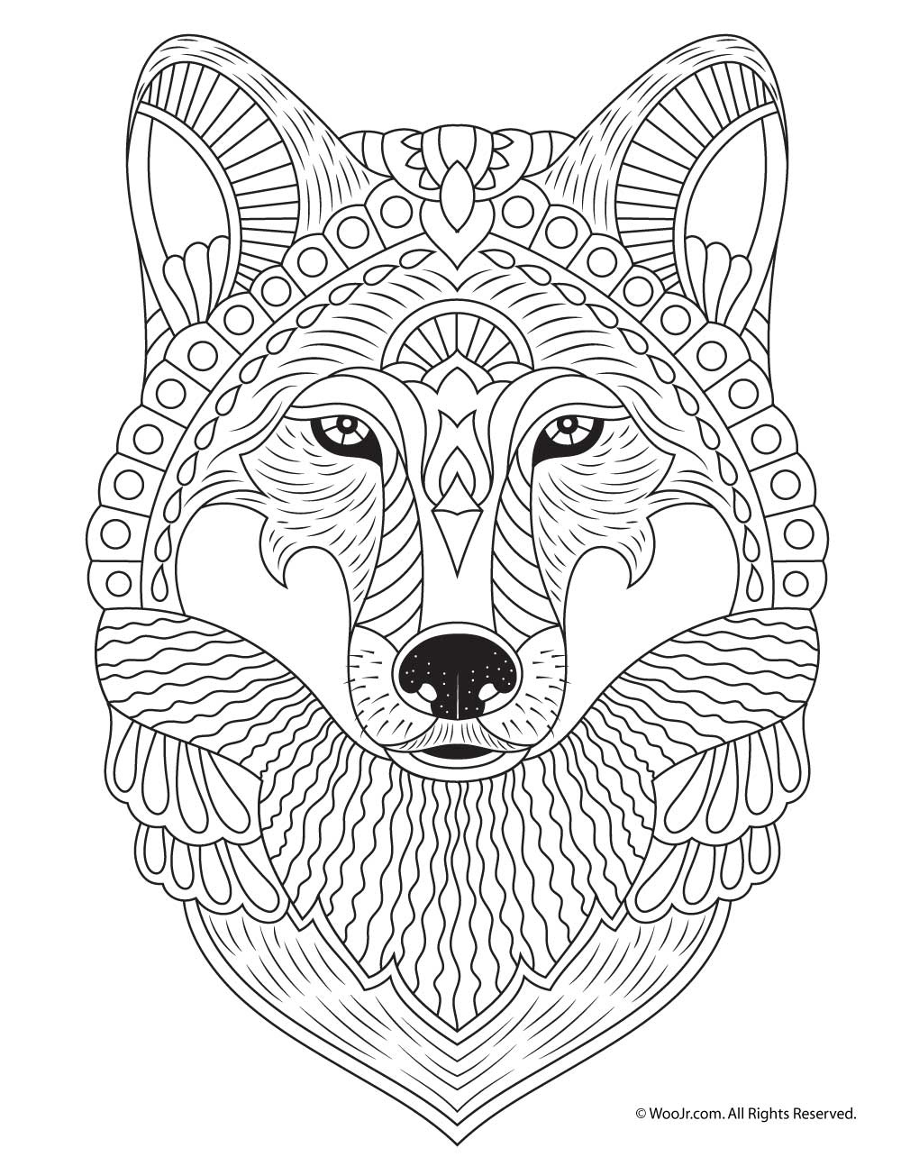 color pages of animals wolf adult coloring page woo jr kids activities pages of animals color