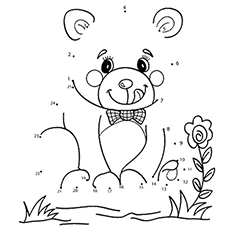 color the dots printable pages beloved teddy bear printable connect the dots game teddy pages printable color the dots