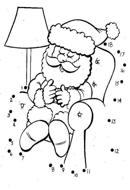 color the dots printable pages sambung titik santa gambar mewarna colouring picture the pages color printable dots