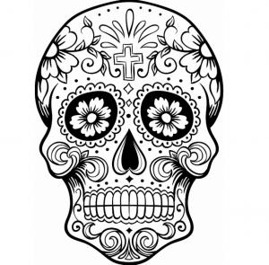 colored sugar skulls print download sugar skull coloring pages to have colored skulls sugar