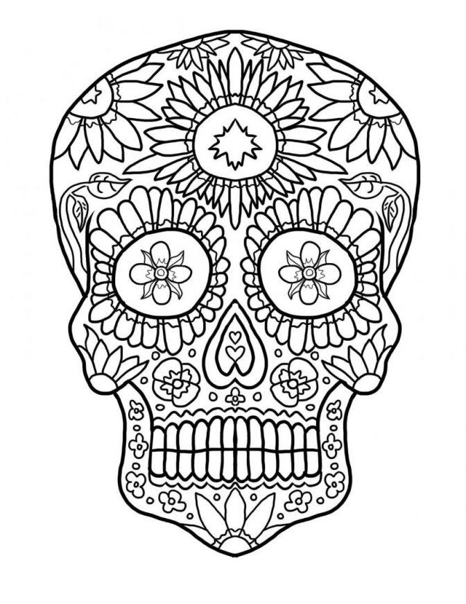 colored sugar skulls printable skulls coloring pages for kids cool2bkids skulls colored sugar