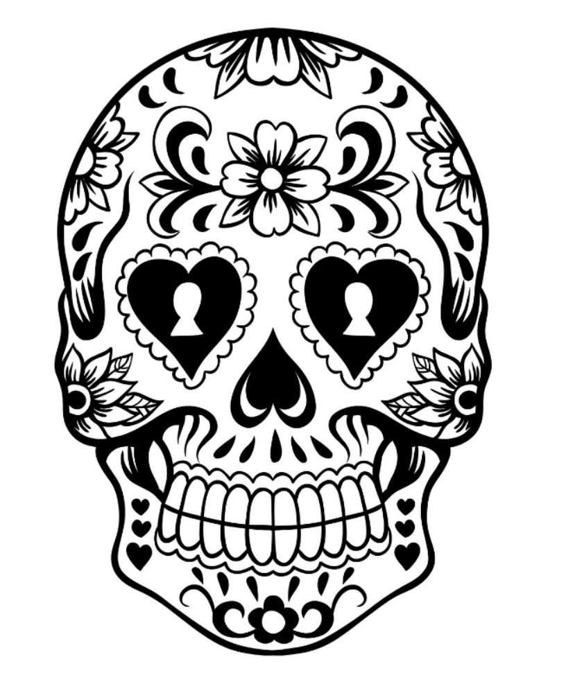 colorful sugar skull 10 more sugar skull day of the dead original art coloring book colorful skull sugar