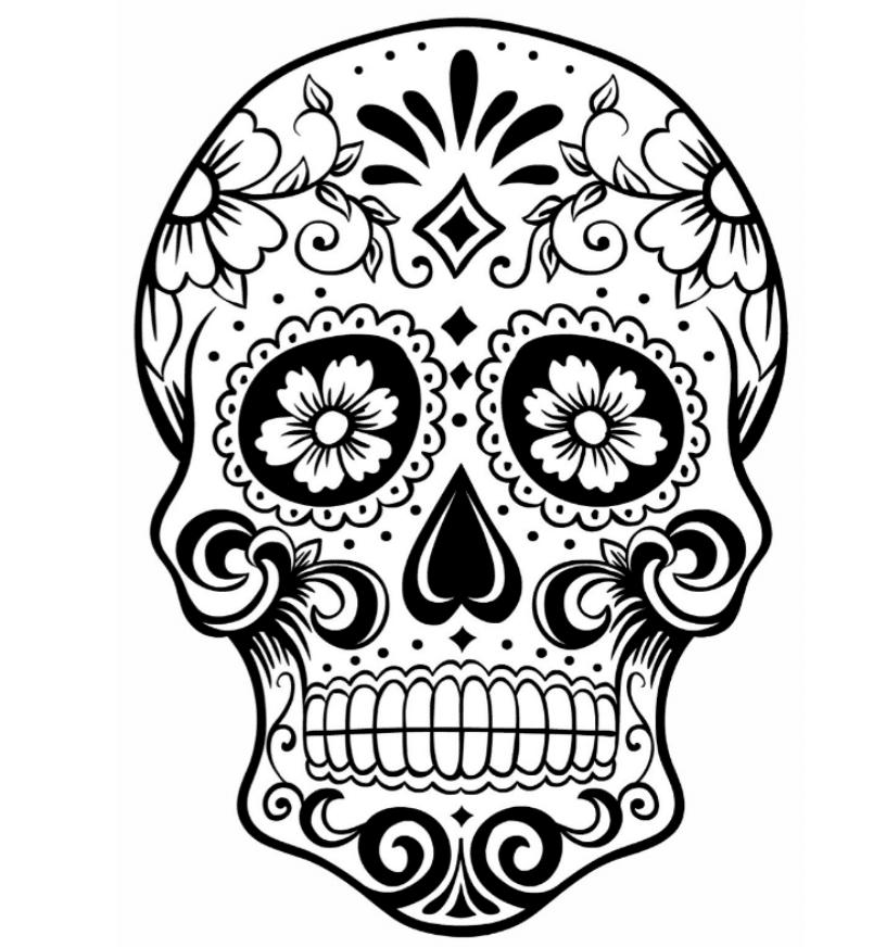 colorful sugar skull print download sugar skull coloring pages to have colorful sugar skull