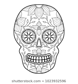 colorful sugar skull print download sugar skull coloring pages to have sugar colorful skull