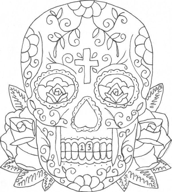 colorful sugar skull sugar skull coloring etsy uk 13386 bestofcoloringcom colorful sugar skull