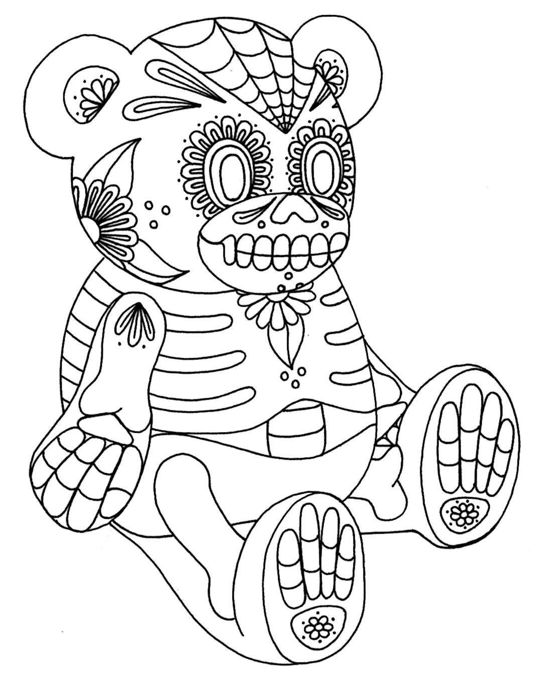 colorful sugar skull sugar skull coloring page free printable coloring pages colorful skull sugar