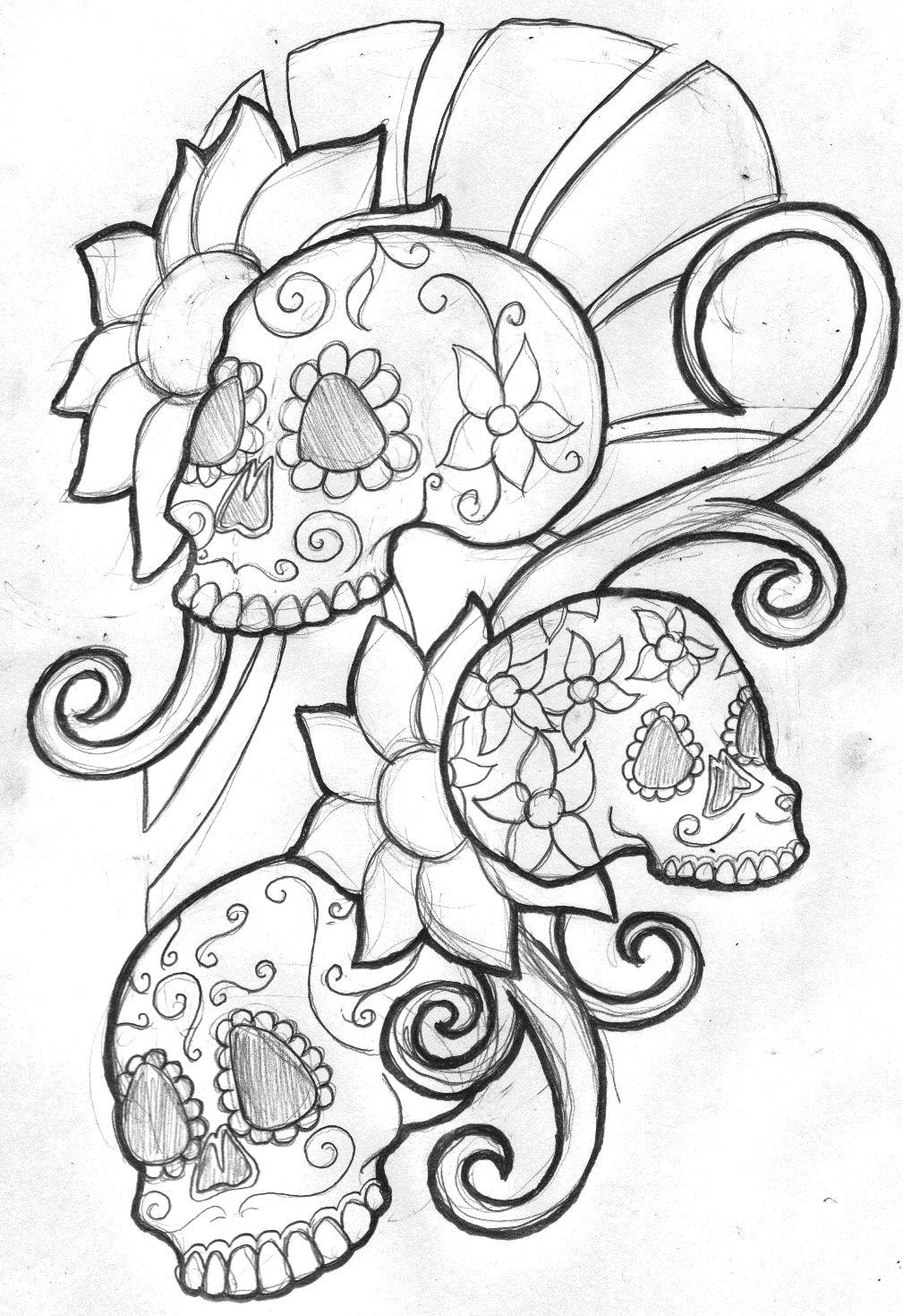colorful sugar skull sugar skull coloring page free printable coloring pages skull sugar colorful